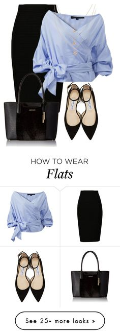"""#577"" by may-nimo on Polyvore featuring Jimmy Choo and Calvin Klein"