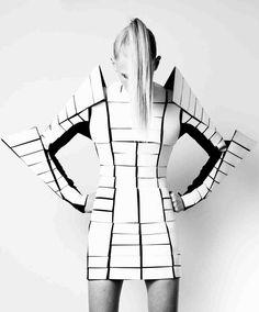 Sculptural Fashion - futuristic fashion armour with graphic silhouette; geometric fashion // Gareth Pugh