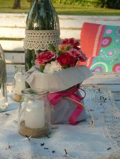 Ambientacion de Vicky Canale para un casamiento en el campo