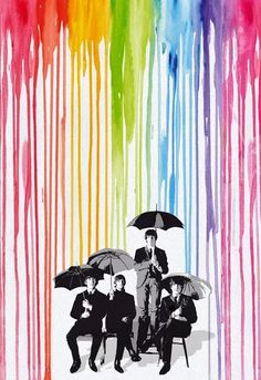 Pop Style Rainy Rainbow The Beatles alternative poster - Different sizes. Home Decor Rock print fan art. Beatles Poster, Les Beatles, Beatles Art, Beatles Guitar, Motivational Wall Art, Inspirational Wall Art, Art Pop, Rock Posters, Concert Posters
