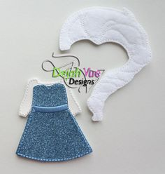 Non Paper Dolls offered by Stone House Stitchery **Outfit/Wig Only** Winter Queen Non Paper Doll Dress & Wig
