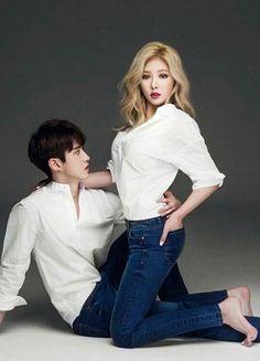 Yeo One and HyunA photoshoot