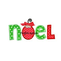 Digital Machine Embroidery Design - Noel Christmas Applique on Etsy, $3.99