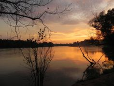 sunset on the  White river