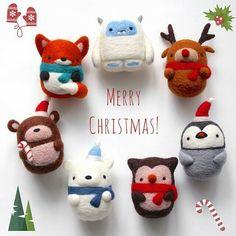 @wildwhimsywoolies ⚫ ⚫ #christmas #gift #toy #felting #игрушки #рождество #зима #игрушкиручнойработы #новогоднийдекор #интерьер #декор #нежность