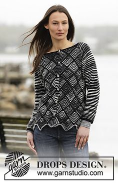 Ravelry: 165-13 Checkmate Cardigan pattern by DROPS design