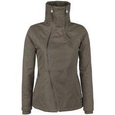 R.E.D. by EMP - Cotton Jacket  - naisten takki - huivikaulus - leveä kaulus - vetoketjulliset sivutaskut - hihansuissa resorit - kevyesti topattu  Haetko coolia perustakkia välikausikäyttöön? R.E.D. by EMP:n Cotton Jacket sopii tähän loistavasti. Ruskeassa takissa on kevyt toppaus ja se on 100% puuvillaa. Hihansuut ja korkea pystykaulus suojaavat sinua kylmältä ja epäsymmetrinen vetoketju antaa takille raikkaan, tyylikkään ilmeen.