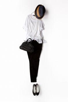 Kyoko Kikuchi's Closet | 小物を変えてより気品を意識したブラック&ホワイトその2