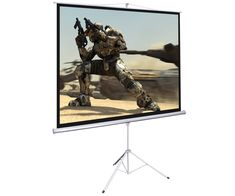 """100"""" Tripod Portable Projection Projector Screen Square 70x70 Stand Office Hom"""