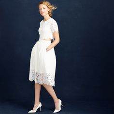 Collection floral lace cropped top : Bridal Separates | J.Crew