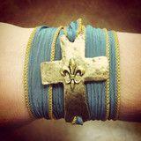 Ribbon Cross Bracelet