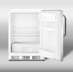 Summit FF67SSTB Commercially approved allrefrigerator with stainless steel door and towel bar handle ** To view further for this item, visit the image link. (This is an affiliate link)