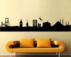 Istanbul City Vinyl Wall Art Decal wd-9