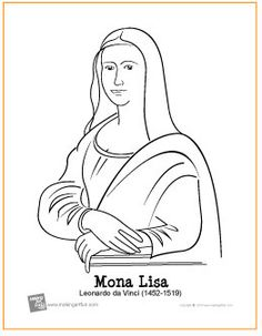 If i ever need coloring pages of famous paintings i don for Mona lisa coloring pages