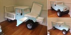 A Truck Crib That Turns Into A Changing Table!
