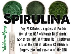 Spirulina Benefits: 7 Reasons to Try It (& 1 Major Caution)  Spirulina is a superfood plant source of protein, minerals, vitamins, and antioxidants. Benefits include fighting anemia, good for blood, heart, and more!