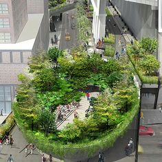 urban amphitheatre gardening | high line park, new york