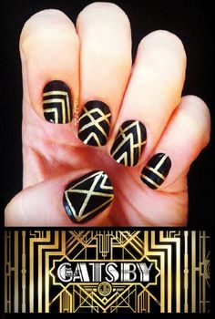 The Great Gatsby Inspired Nails.