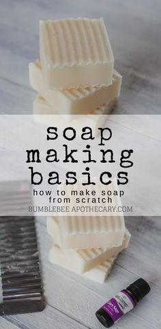 Bumblebee Apothecary Soap making basics and safety Soap Making Recipes, Homemade Soap Recipes, Milk Recipes, Soap Making Process, Cold Process Soap, Savon Soap, Natural Beauty Recipes, Organic Soap, Diy Skin Care