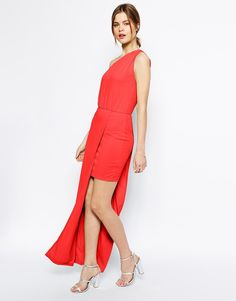 ASOS Maxi Dress with Asymmetric One Shoulder