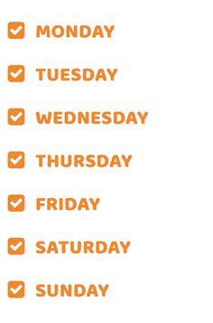 Días de la semana en Inglés los mas principales y populares