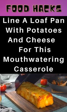 Food Hacks, Cheese Potato Casserole, Life Hacks Home, Beef Recipes, Cooking Recipes, Loaf Pan, Diy Pins, Good Enough To Eat, Sweet Potato Recipes