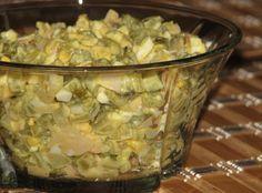 Pyszna i delikatna sałatka z konserwowych ogórków Yummy Food, Tasty, Potato Salad, Oatmeal, Salads, Recipies, Snacks, Chicken, Vegetables