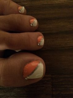Summer toe nail design.