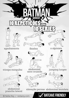 EXERCICIOS PARA FAZER EM CASA DO BATMAN