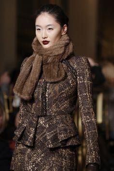 Fashion Week beauty got grapey: Zac Posen girls wore MAC Vino lip pencil & Burgundy lipmix