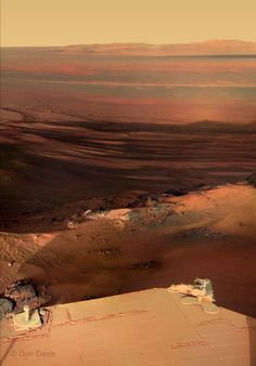 Sunset on Mars, as seen by the Opportunity rover!     More info: http://www.planetary.org/blog/article/00003387/      Credit: NASA / JPL / Cornell / color mosaic © Don Davis