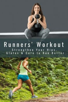 While overall strength training is important, this Runners' Workout focuses on your hips, glutes, and core, which will help your run better and avoid injury. #running #runningtips #runnersroundup #workout #hipworkout #gluteworkout #coreworkout Running Tips, Running Cross Training, Triathlon Training, Half Marathon Training, Running Man, Running Workouts, Running Shoes, Hip Workout, Waist Workout