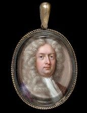 A GENTLEMAN, BELIEVED TO BE WILLIAM CONGREVE (1670-1729) DRAMATIST AND POET by Charles Boit. Signed on the reverse