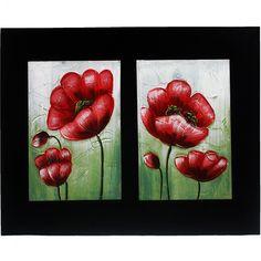 3D Modern Flower Painting Print on Canvas