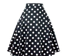 Pinup  Polkadots  Full Circle  Skirt