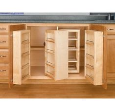 Swing Out Complete Pantry System, Rev-a-Shelf Series-Swing Out Single Units - Kitchen Organization - Cabinet Organization - Cabinet Hardware - Hardware Kitchen Pantry Cabinets, Kitchen Cabinet Organization, Kitchen Redo, Kitchen Storage, Wooden Kitchen, Cabinet Storage, Kitchen Units, Pantry Cupboard, Cabinet Space