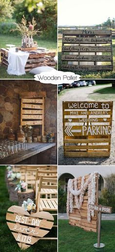 Genius Ideas to Incorporate Wood Into Your Wedding Party inspirational wooden pallet wedding ideas Pallet Wedding, Camp Wedding, Wedding Tips, Trendy Wedding, Diy Wedding, Wedding Planning, Wedding Day, Party Wedding, Camping Wedding Theme