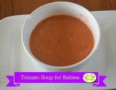 Tomato soup for babies