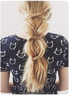 9 Easy, Pretty Summer Styles for Long Hair - SELF~ The Knotted Ponytail
