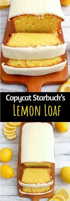 This Copycat Starbuck& Lemon Loaf is so moist and full of lemon flavor and a simple glaze on top makes this absolutely scrumptious! The post KETO COPYCAT STARBUCKS LEMON LOAF appeared first on Food Monster. Tea Recipes, Baking Recipes, Cake Recipes, Dessert Recipes, Healthy Lemon Desserts, Dessert Food, Recipies, Starbucks Lemon Loaf, Starbucks Recipes