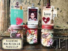 valentine mini mason jars…   Tim Holtz