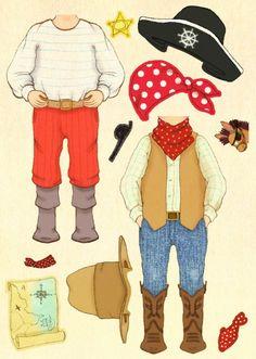 Belle & Boo `Stickerkaart Cowboy - Pirate Ellis`