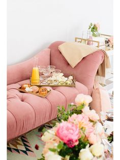 Betsy Velvet Chaise Lounge, Rose would love to put something like this in my closet or bedroom!!!
