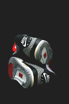 Nike Air heels on Jordan 3's. #sneakers