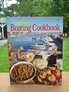 Vintage Boating 1974. Use a Cobb to cook on the boat! Take the heat in the galley and bring it out on the deck. Safest charcoal outdoor cooking system. Cook on ANY surface. Contained heat. The base stays cool to he touch while cooking.