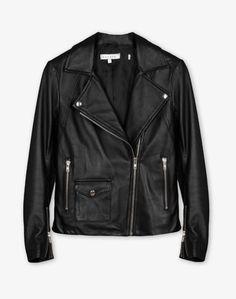 Black leather perfecto, Sandro