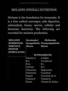 melanin facts