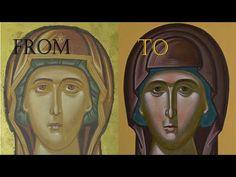 ΑΓΙΟΓΡΑΦΙΑ: 5 Ways to paint better a byzantine Icon - iconography tutorial - YouTube Byzantine Icons, Byzantine Art, Your Paintings, 5 Ways, Madonna, Cool Stuff, Artwork, Book Binding, Youtube