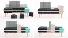 """""""Block"""" sofa Create your own comfort- My kids would love this and I would love this!"""