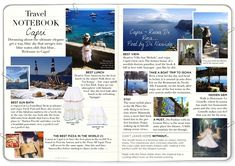 CAPRI Travelers Notebook, Nice View, Capri, San, London, Adventure, Water, Ruins, Gripe Water
